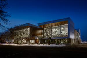 Aggie Recreation Center at Utah State University, Logan, Utah.